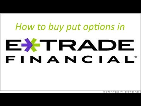 How to Buy a Put Option in Etrade