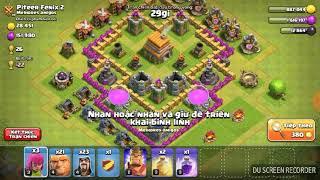 clash of clans combo nhà Hall 7 siêu hay