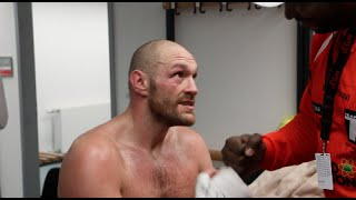 'NOBODY BELIEVED US, WE TOLD YOU' - TYSON FURY & CLIFTON MITCHELL (EXCLUSIVE DRESSING ROOM FOOTAGE)