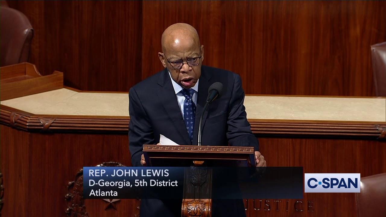 CSPAN Representative John Lewis Says It's Time to Begin Impeachment Proceedings