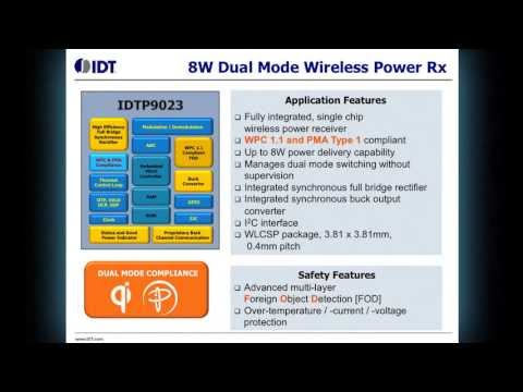 P9023 Dual-mode WPC 1.1 (Qi) and PMA 1.1 Wireless Power Receiver Demo by IDT