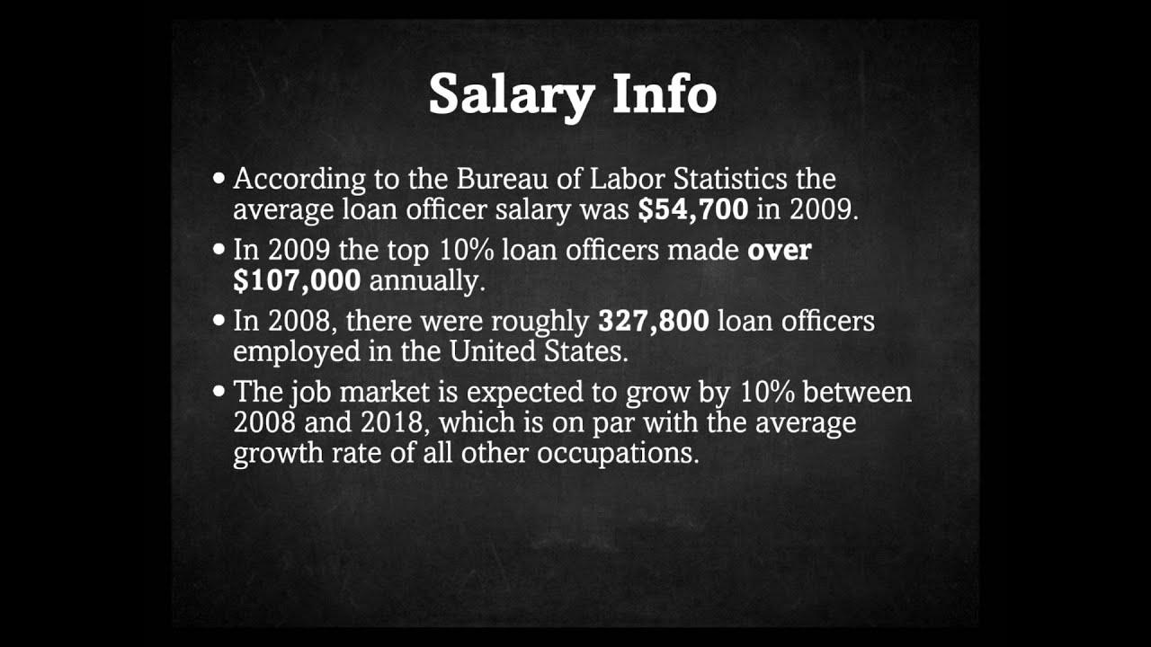 Loan Officer Salary - YouTube