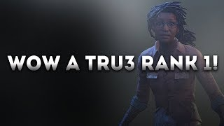 Dead by Daylight WITH...SURVIVOR! - WOW A TRU3 RANK 1!