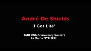 """André De Shields sings """"I Got Life"""" at LaMaMa's 50th Anniversary celebration of HAIR"""