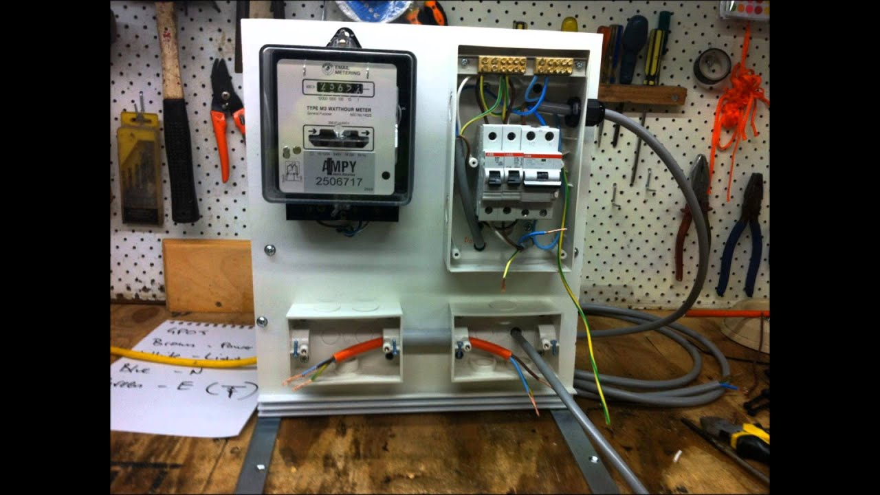 mcb board wiring diagram ge front load washer redneck meter panel with 39s and an rcd youtube