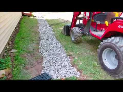 French Drain Installation: Around the House