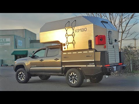 The FIRST Toyota Tacoma With A Sherptek Flat Bed & Kimbo Camper