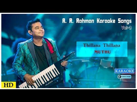 Thillana Thillana Karaoke Song | AR Rahman Karaoke Songs | Muthu Movie Songs | Music Master