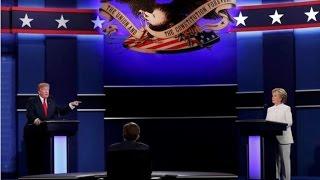 """شاهد: بدء المناظرة الاخيرة بين كلينتون وترامب """"بدون مصافحة"""""""