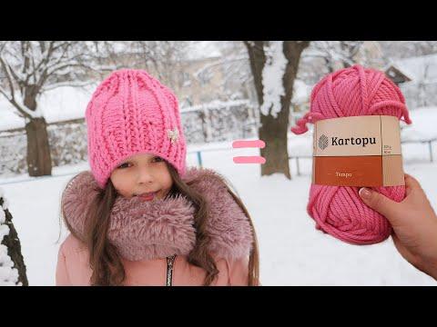 Вязание шапки для девушек спицами с описанием из толстой пряжи