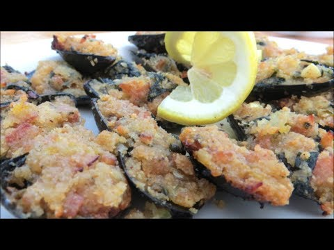 Stuffed Mussel Recipe – Stuffed and Grilled Mussels – Seafood Appetizer Recipe