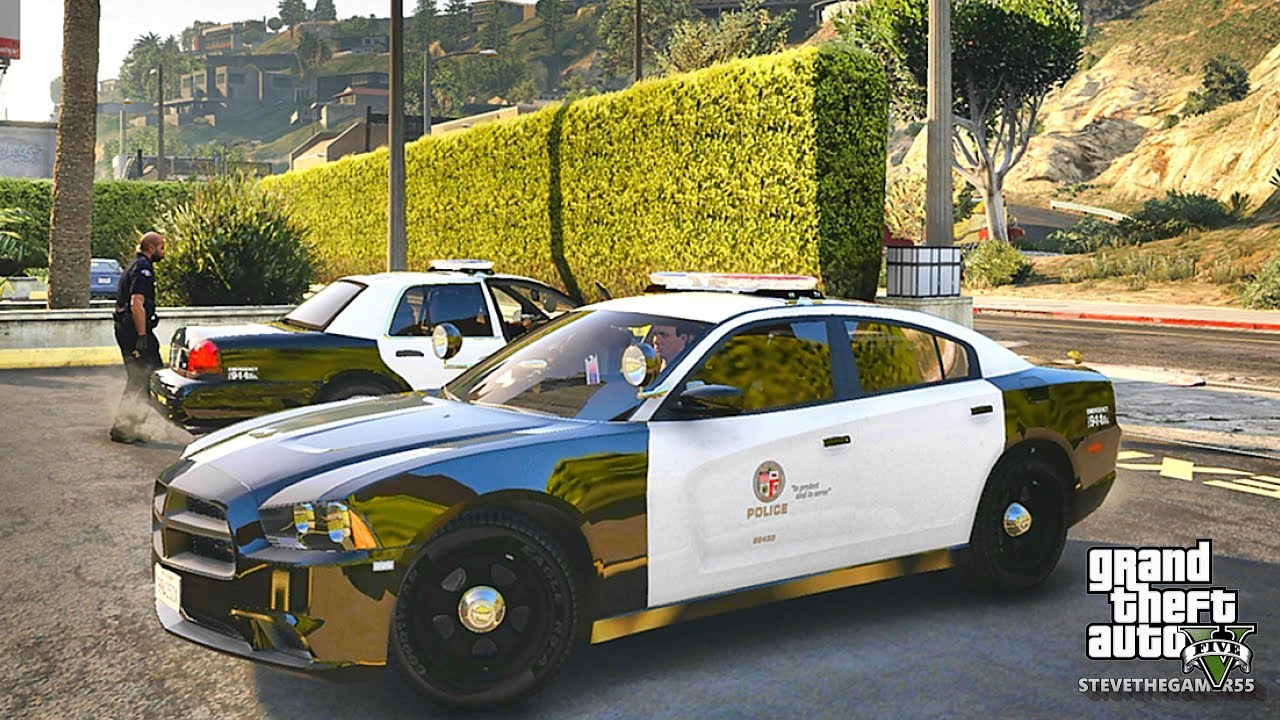 GTA 5 MODS LSPDFR 943 - LAPD PACK PATROL!!! (GTA 5 REAL LIFE PC MOD) CHARGER