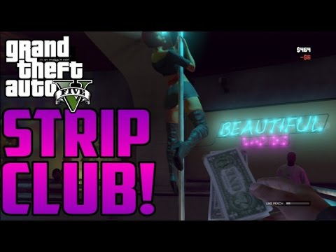 Things to do in GTA V- Strip Club-IM THE STRIPPER!!
