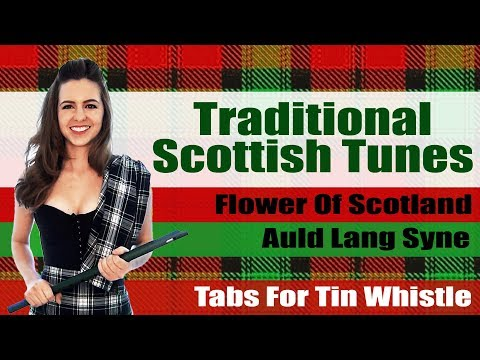 Auld Lang Syne AND The Flower Of Scotland - TRADITIONAL TIN WHISTLE TUNES