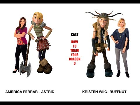 How To Train Your Dragon 3 Movie Characters And Actors Voice 2018 Youtube