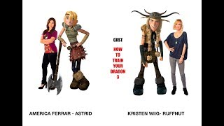How to Train Your Dragon 3 Movie - Characters and Actors voice -2018