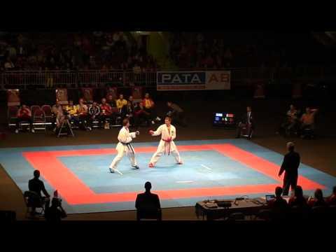 Karate WKF Latvia Grand Prix 2011 male OPEN  final Tzanos (Greece) VS Grachev (Belarus))