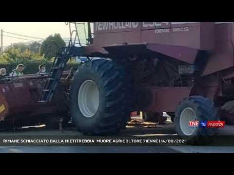 RIMANE SCHIACCIATO DALLA MIETITREBBIA: MUORE AGRICOLTORE 71ENNE   14/09/2021