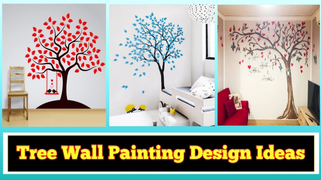75 Best Diy Art Wall Decor Tree Wall Painting Design Ideas Wall Decoration Ideas For Interior Youtube