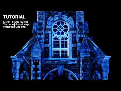 Let's create audio reactive extrusions on a church for projection mapping