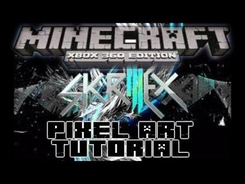 Minecraft 360 Skrillex Pixel Art Tutorial Time Lapse