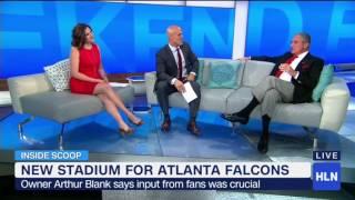 NFL's Newest Stadium - Falcons owner Arthur Blank w/ Lynn Smith & Coy Wire