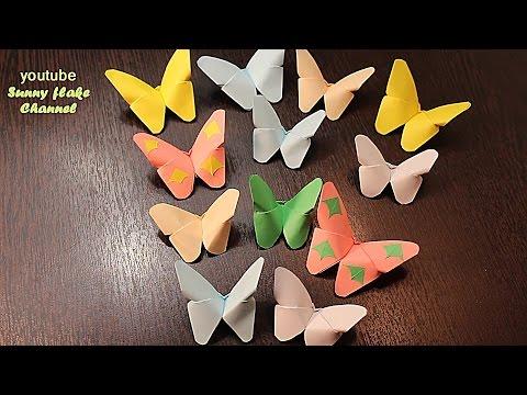 БАБОЧКИ ИЗ БУМАГИ на стене СВОИМИ РУКАМИ// DIY Butterfly Room Decor / ОРИГАМИ БАБОЧКА