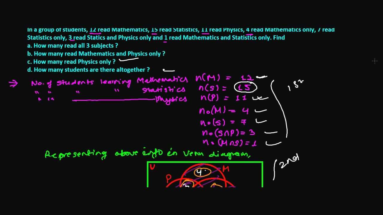 how to solve venn diagram mobile app architecture set theory word problem with 3 sets - youtube