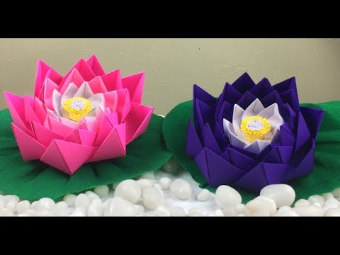 Lotus Flower Making With Paper | Lotus Flower Craft | Paper Crafts For School