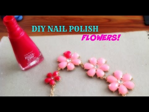 Nail Polish Wire Flower