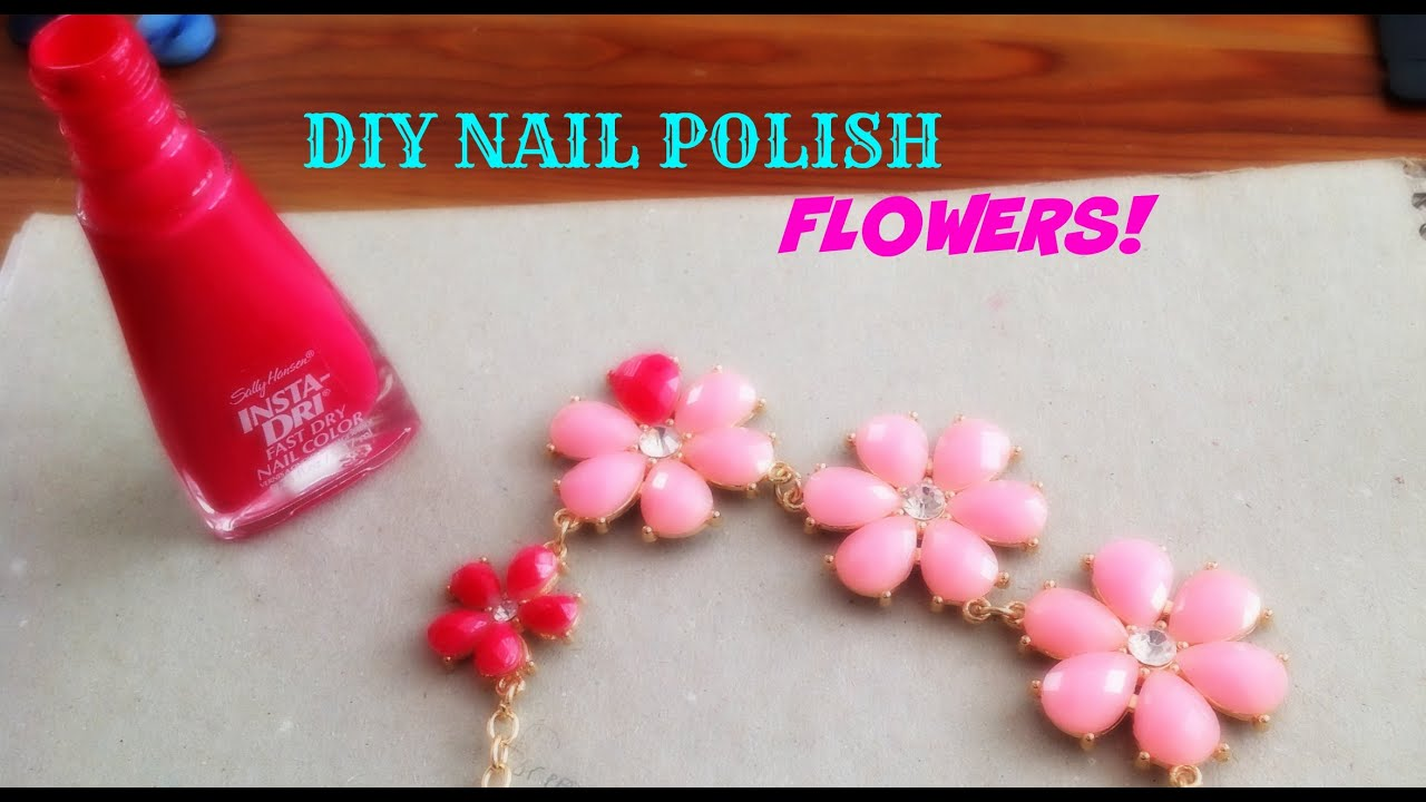 DIY Nail Polish Flowers - YouTube