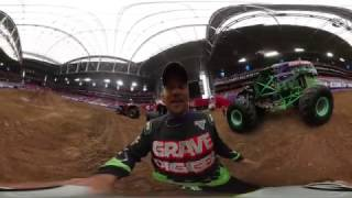 360 Ride Along with Grave Digger