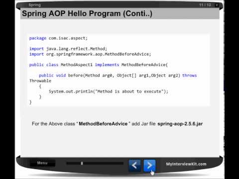 Spring Chapter 13 - AOP(Hello World Example)