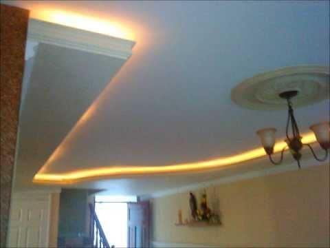 Falsos con luz indirecta youtube - Plafones para techo ...