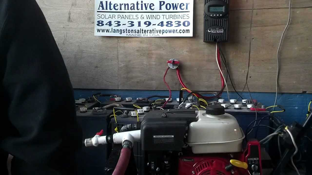 Preppers Back Up Power Dc Generator To Charge 48 Volt Battery Bank Wiring Solar Panels