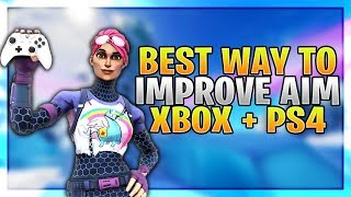 8 Ways To Improve Aim For Controller Fortnite! (Fortnite How To Aim PS4 + Xbox)