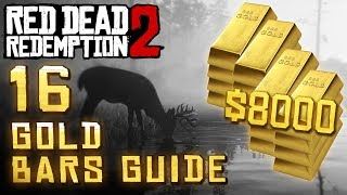 Red Dead Redemption 2 - 16 Gold Bar Locations ($8000+other loot)