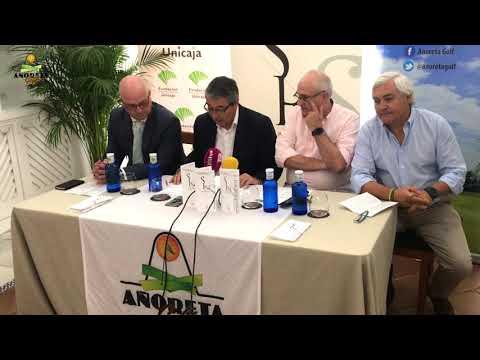 Presentación bases premio de poesía Salvador Rueda en Añoreta Golf