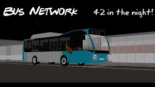 42 in the night! | Bus Network on Roblox