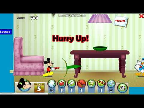 Мультфильм Игра Микки Маус: Битва Подушками