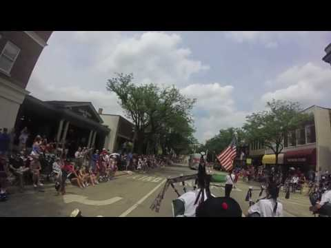 Tunes of Glory at Glen Ellyn Parade, from Drone Camera