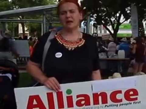 Mary O'Neill, Alliance Party Napier Branch . COP 21 Rally in Hastings  28 November 2015