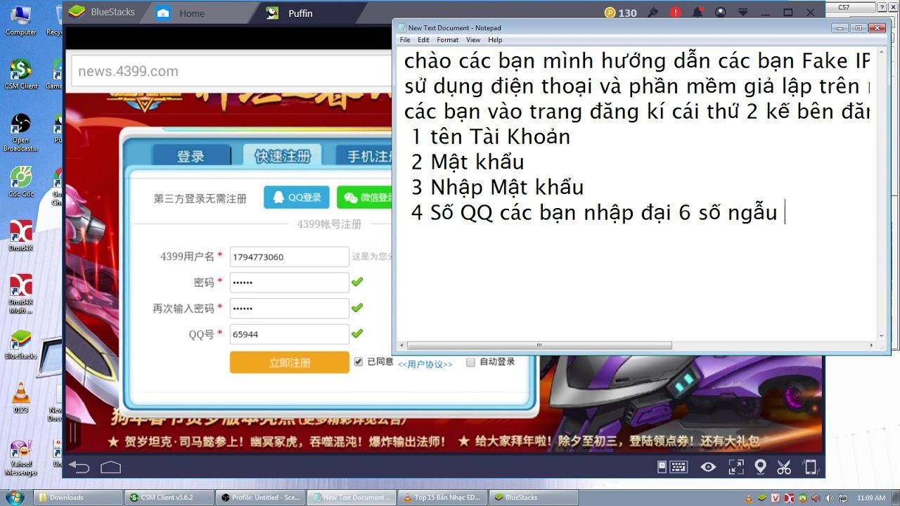 [Bang Bang 4399] Hướng dẫn Fake IP vào game Bang Bang