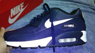Unboxing Nike air max 90 LTR (GS) 2015 Midnight Navy