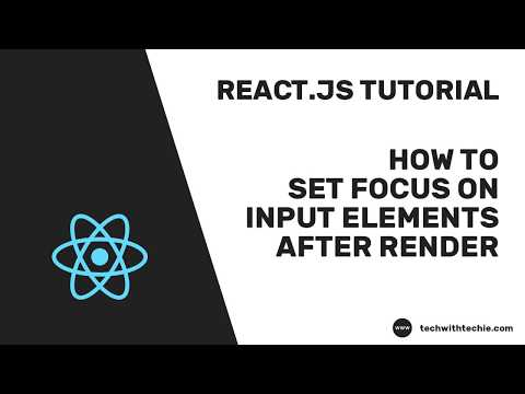 How to set focus on input after render - React - Tech with