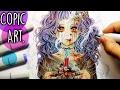 Copic Marker Illustration - VAMPIRE GIRL (Anime Drawing)
