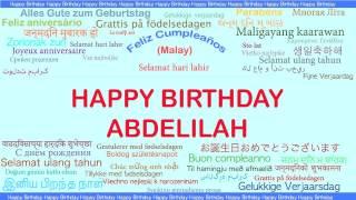 Abdelilah   Languages Idiomas - Happy Birthday