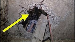 عندما قام العمال بالحفر في منزل المرأة , إكتشفت وجود شيئ مخبأ