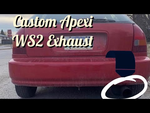 1997 Honda Civic Apexi WS2 Exhaust Install!