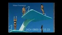 Saga Motor Insurance Advert On Channel 5 UK TV September 2001